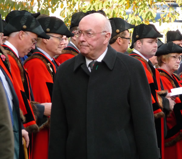Provincial Grand Master at Remembrance Day Parade